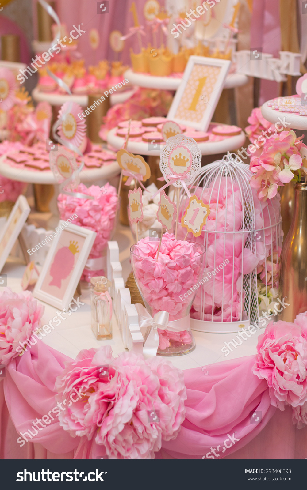 Kids Table Decoration Table Set Wedding Stock Photo (Edit Now ...