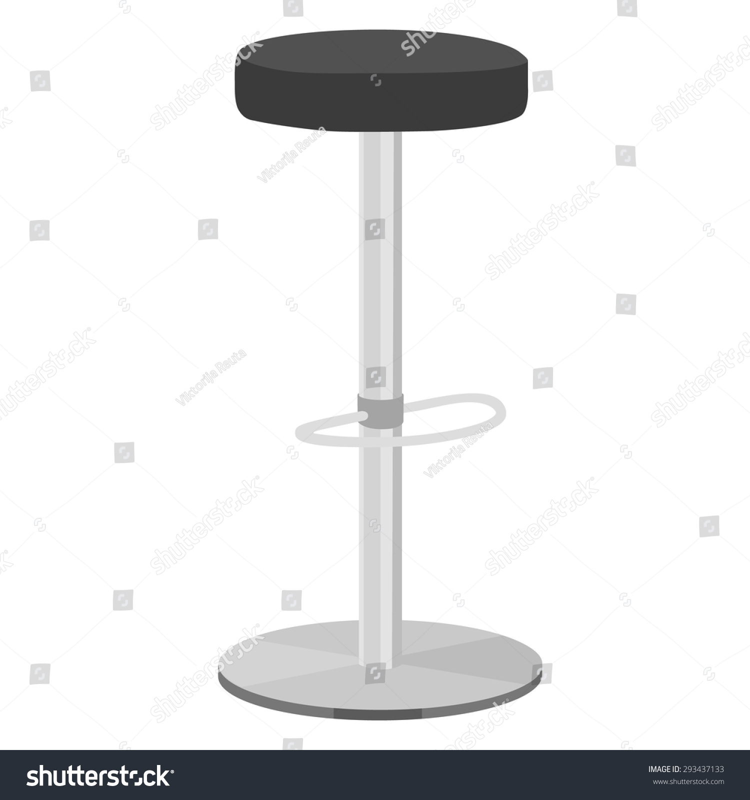 Black Bar Stool Vector Illustration Bar Stock Vector