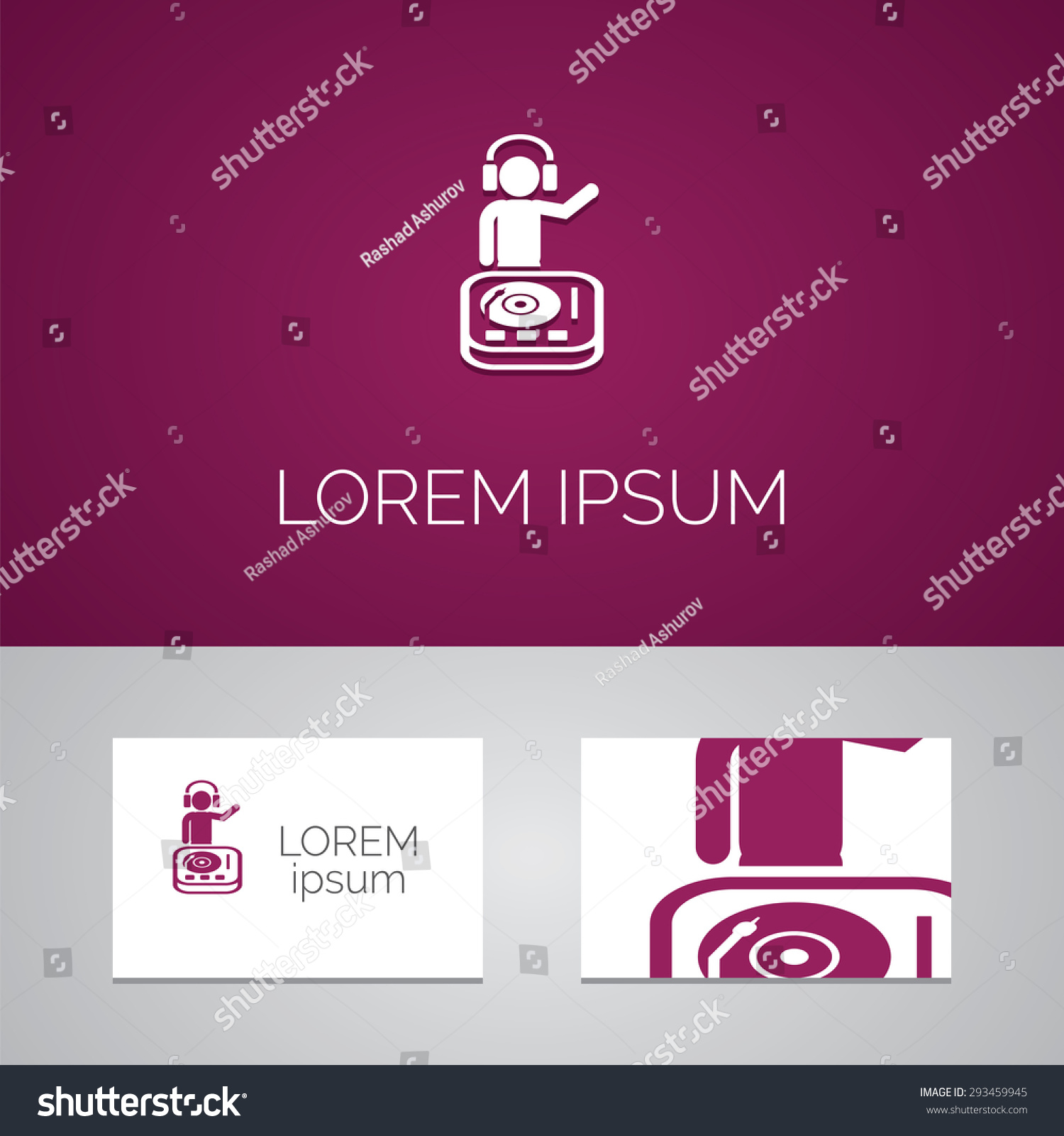 Dj Logo Template Icon Design Elements Stock Vector 293459945 ...