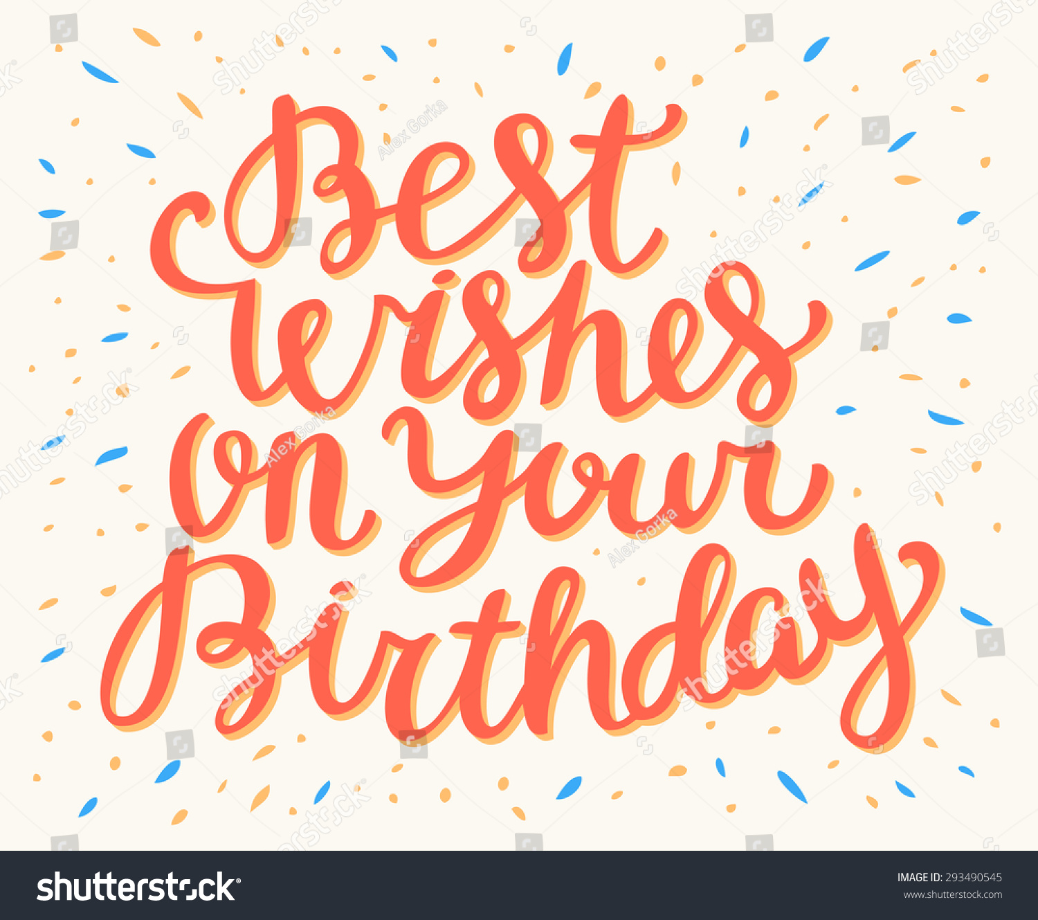 Best wishes on your birthday stock vector 293490545 for All the very best images