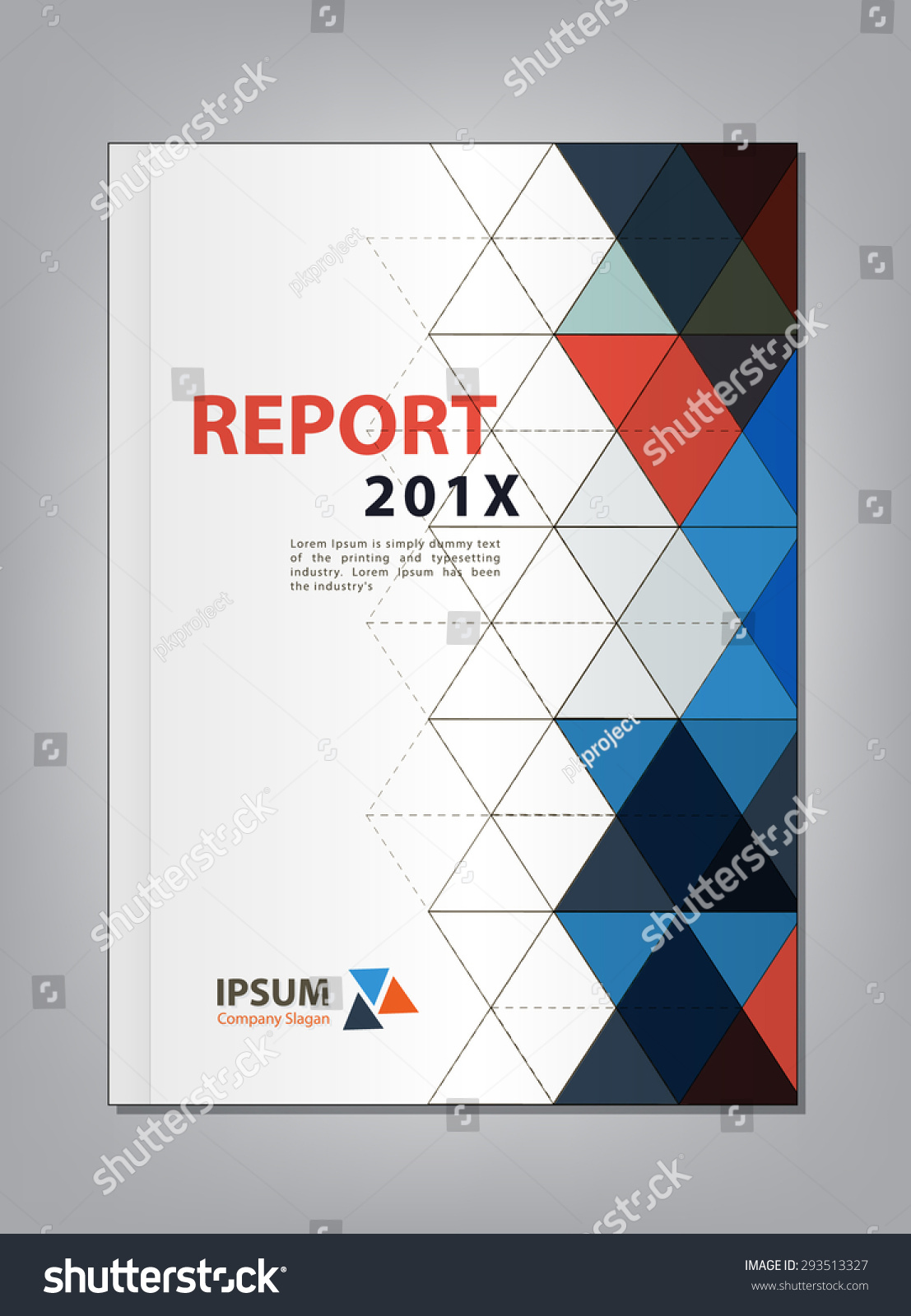 modern annual report cover design vector stock vector  modern annual report cover design vector multiply triangle theme concept