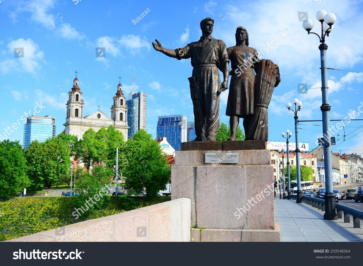 3645099ff7 VILNIUS, LITHUANIA - MAY 12: Soviet realism sculptural group