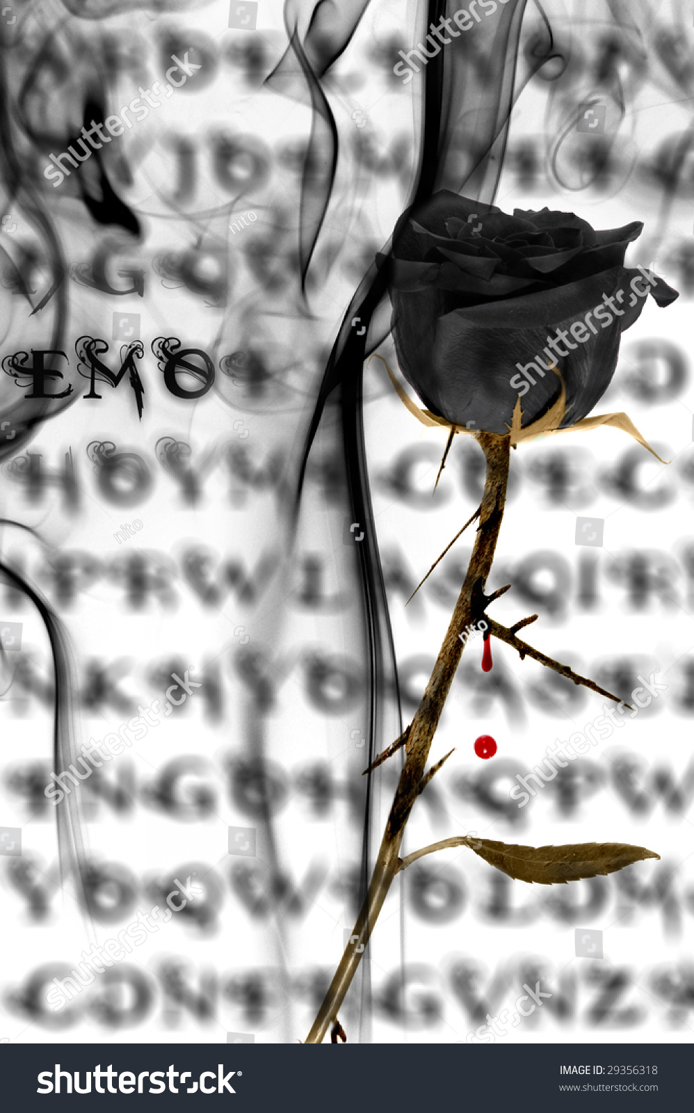Emo rose stock photo 29356318 shutterstock - Emo rose pictures ...