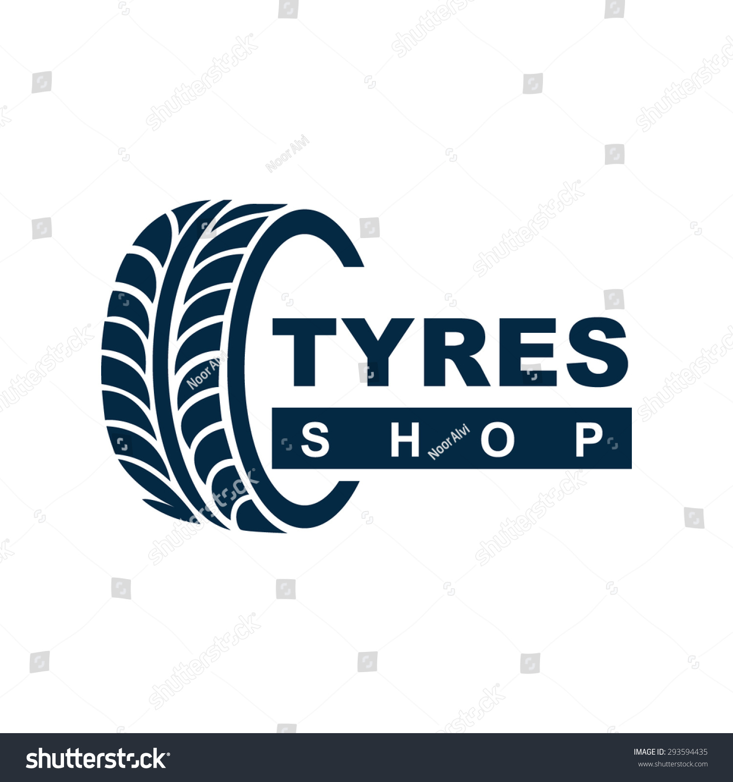 Tyre Shop Logo Design Tyre Business Stock Vector Royalty Free