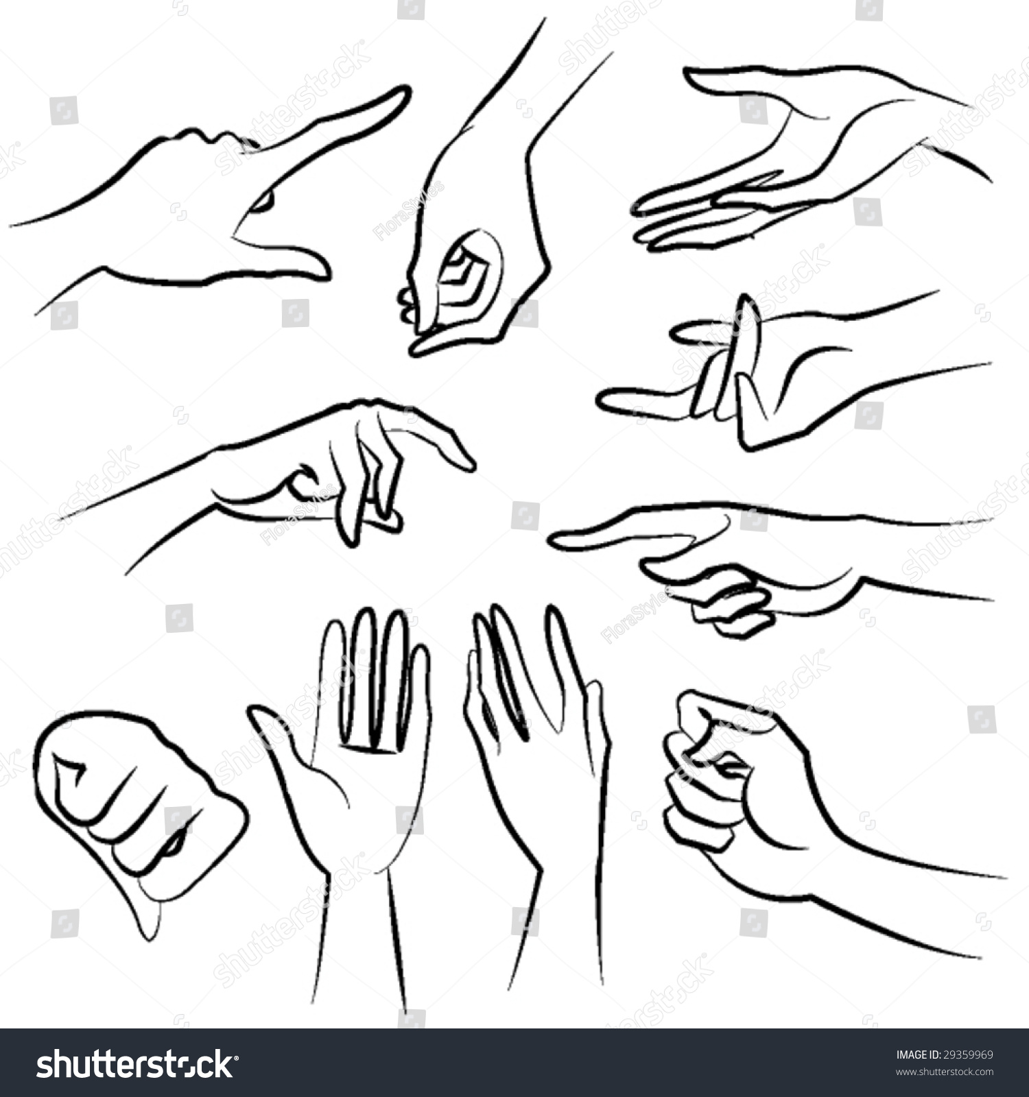 Lady Hands Vector Stock Vector 29359969 Shutterstock
