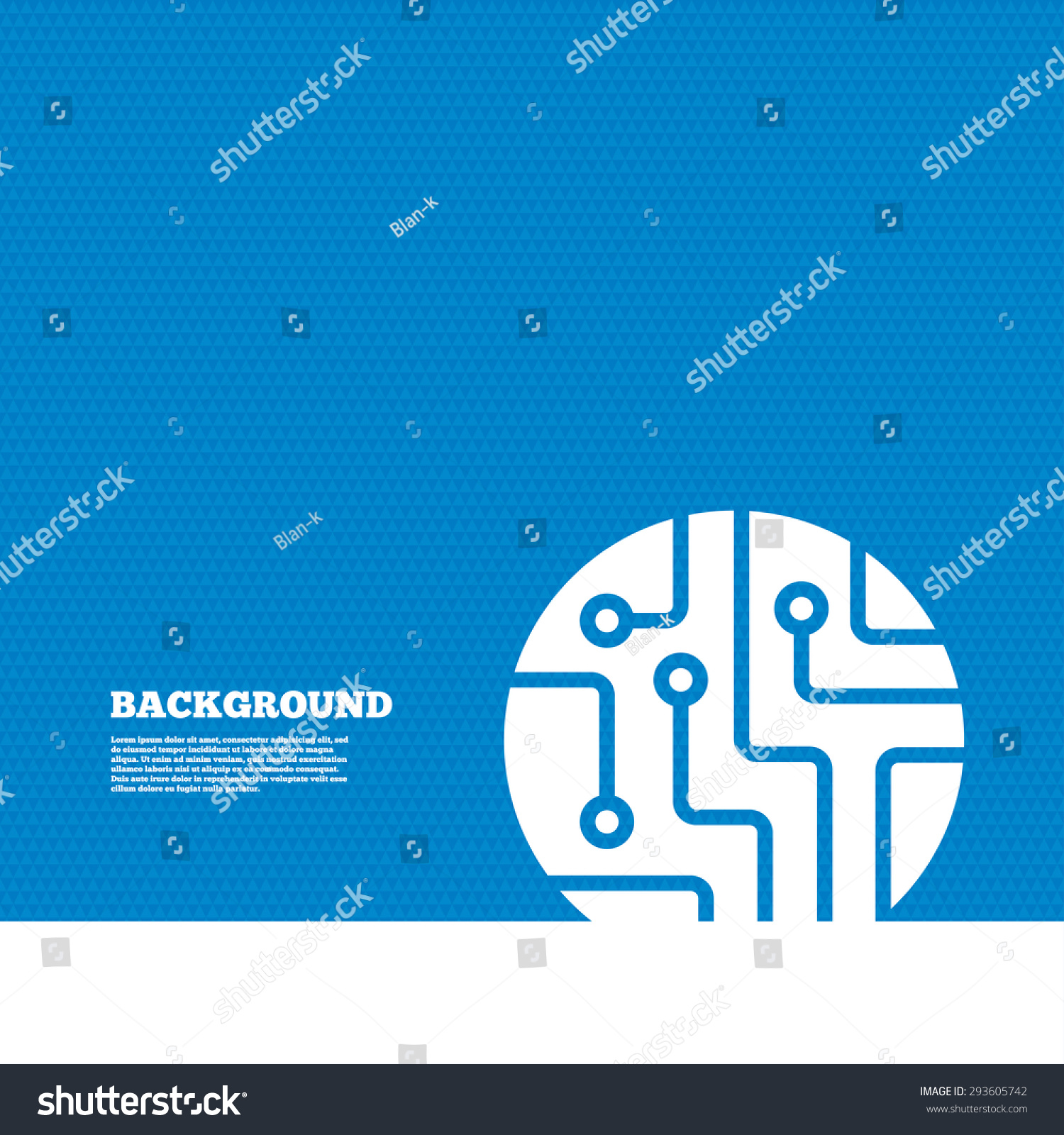 Background with seamless pattern. Circuit board sign icon. Technology  scheme circle symbol. Triangles