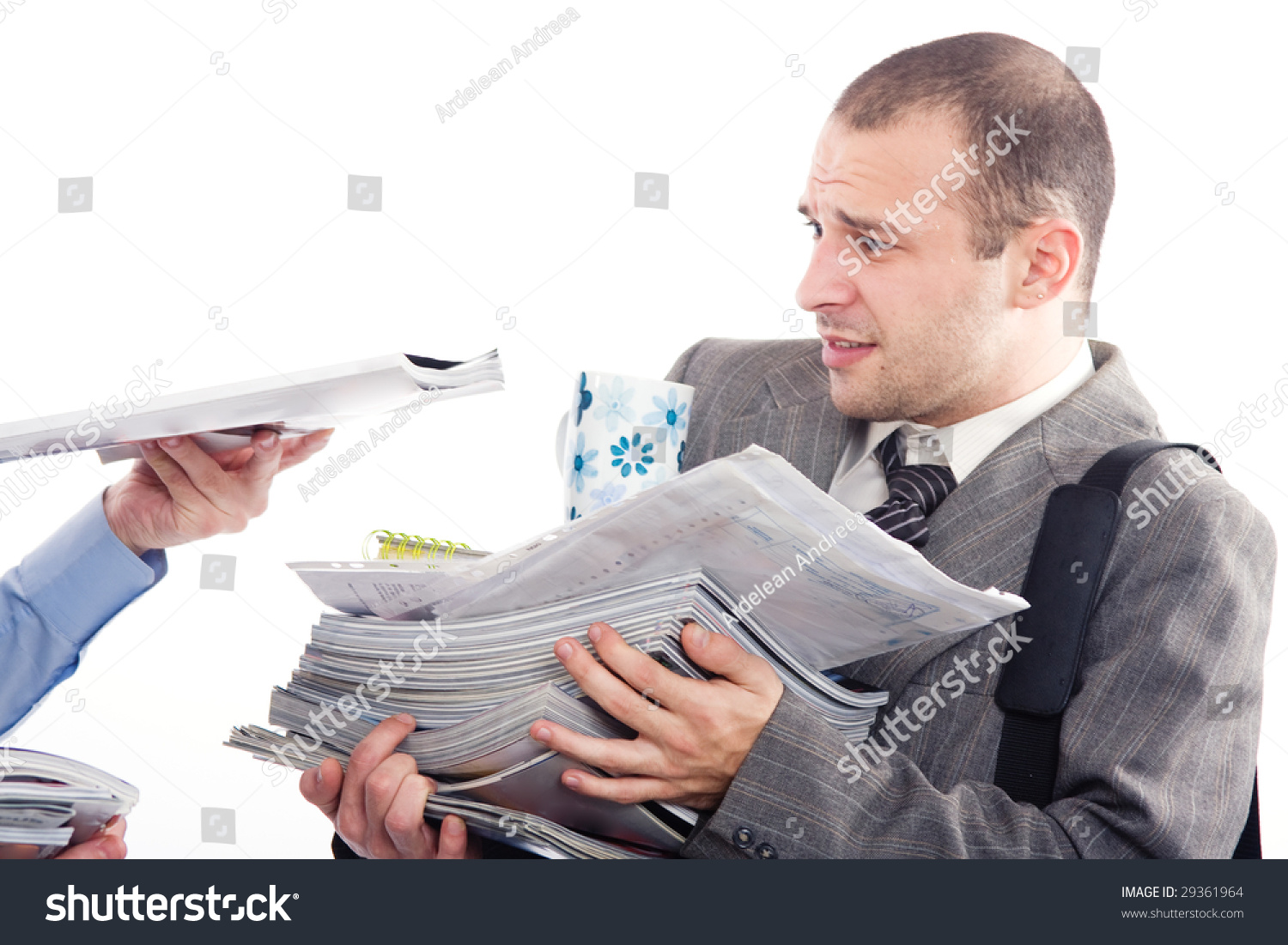 exhausted businessman much work do stock photo shutterstock exhausted businessman too much work to do