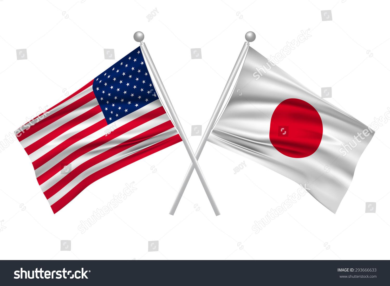 japan american flag stock vector illustration 293666633