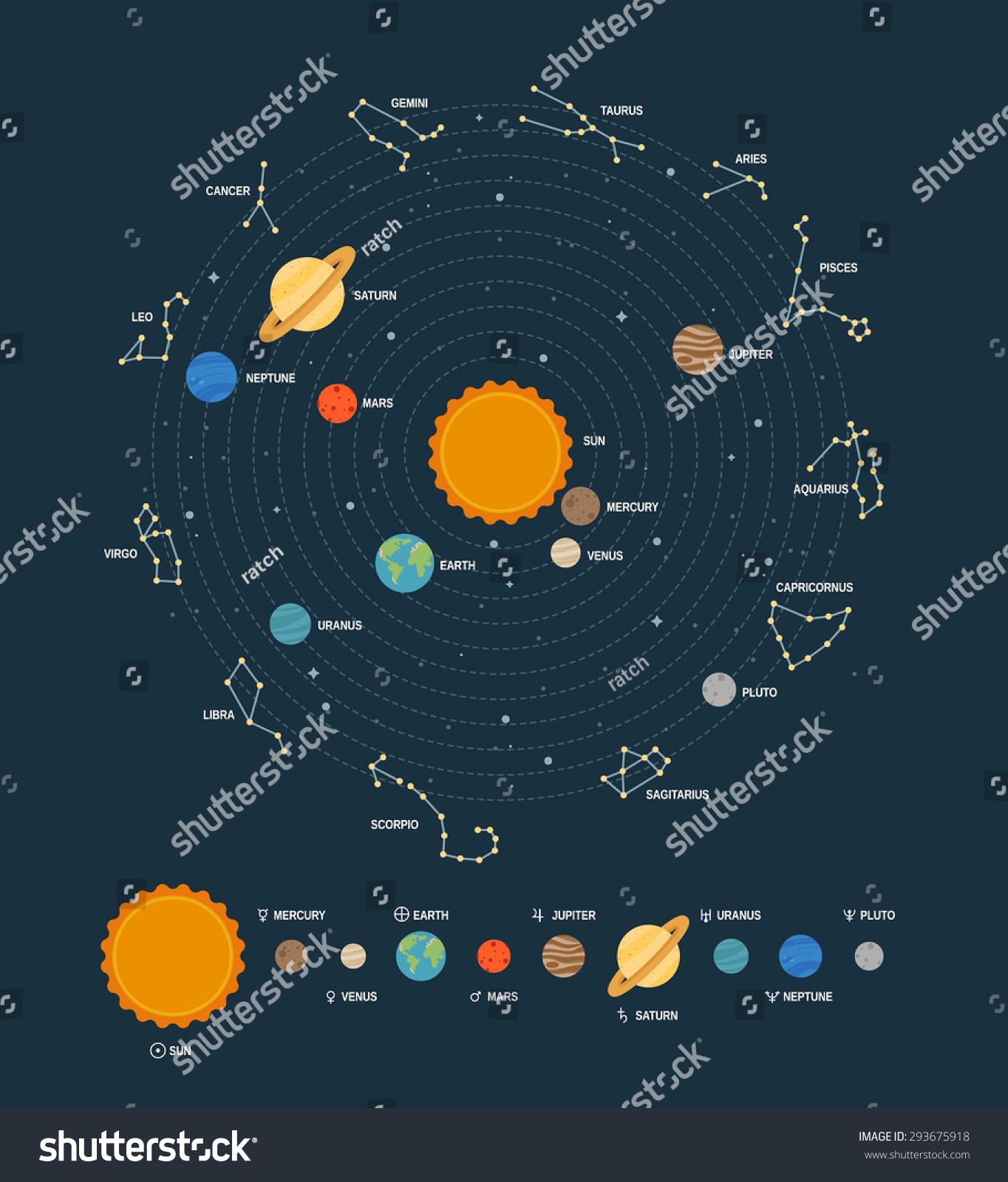 solar system vector - photo #18