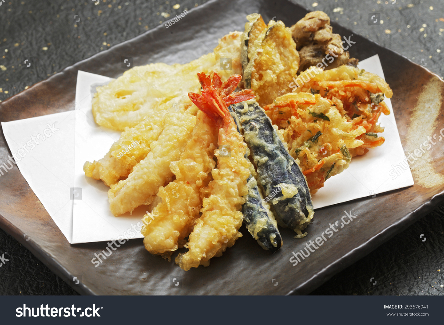 Deep fried fish vegetables light batter stock photo for Deep fry fish batter
