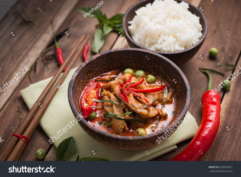 Spicy chicken curry ricepopular thai food foto de stock libre de spicy chicken curry with ricepopular thai food forumfinder Gallery
