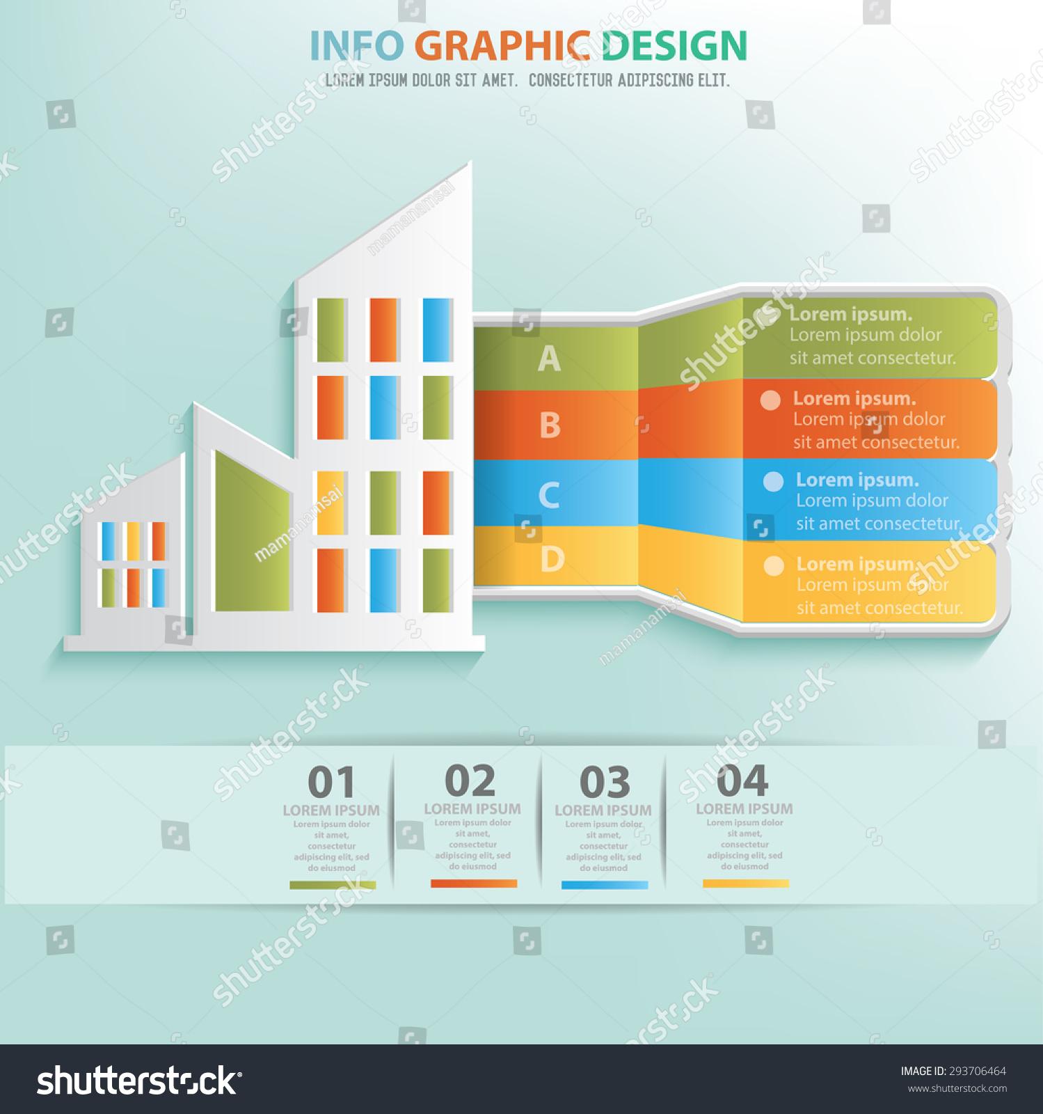 Real Estate Design : Real estate design info graphic designclean stock vector