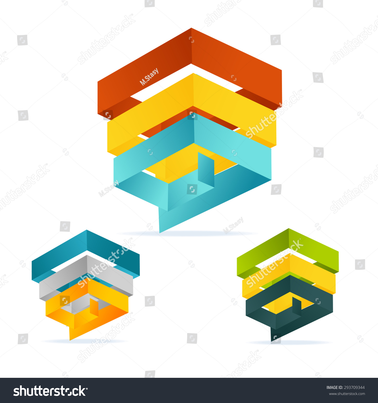 Vector Illustration Pyramid Chart Isometric Templates Stock Vector ...