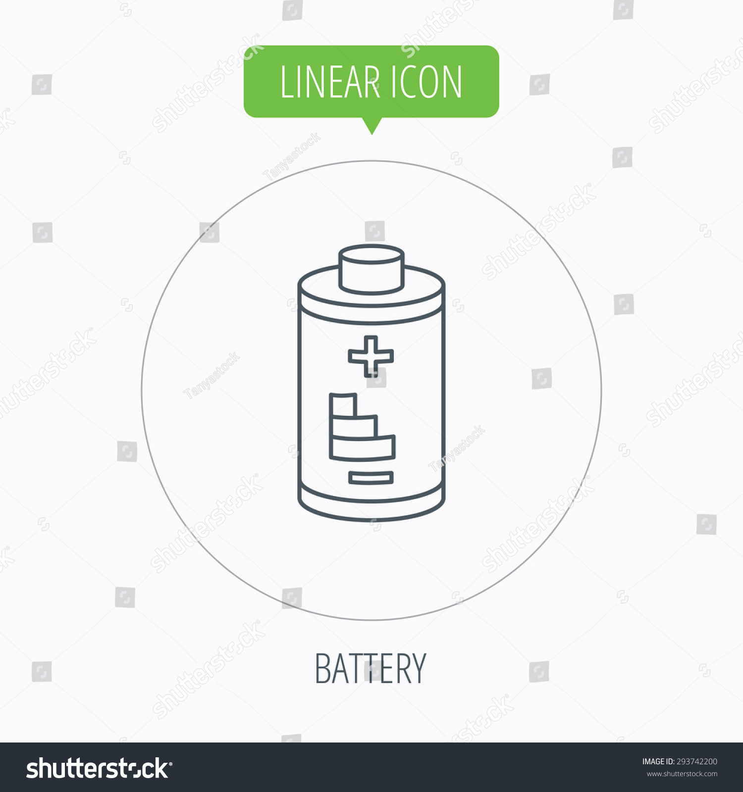 Battery Icon Electrical Power Sign Rechargeable Stock Vector ...