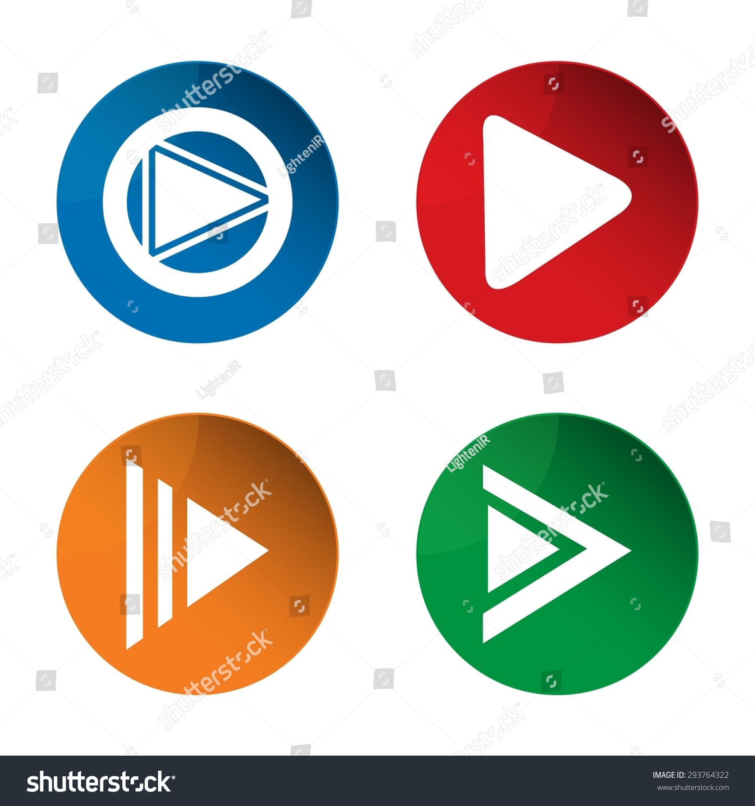 Play Icon Media Icon Pause Icon Stock Vector 293764322 Shutterstock