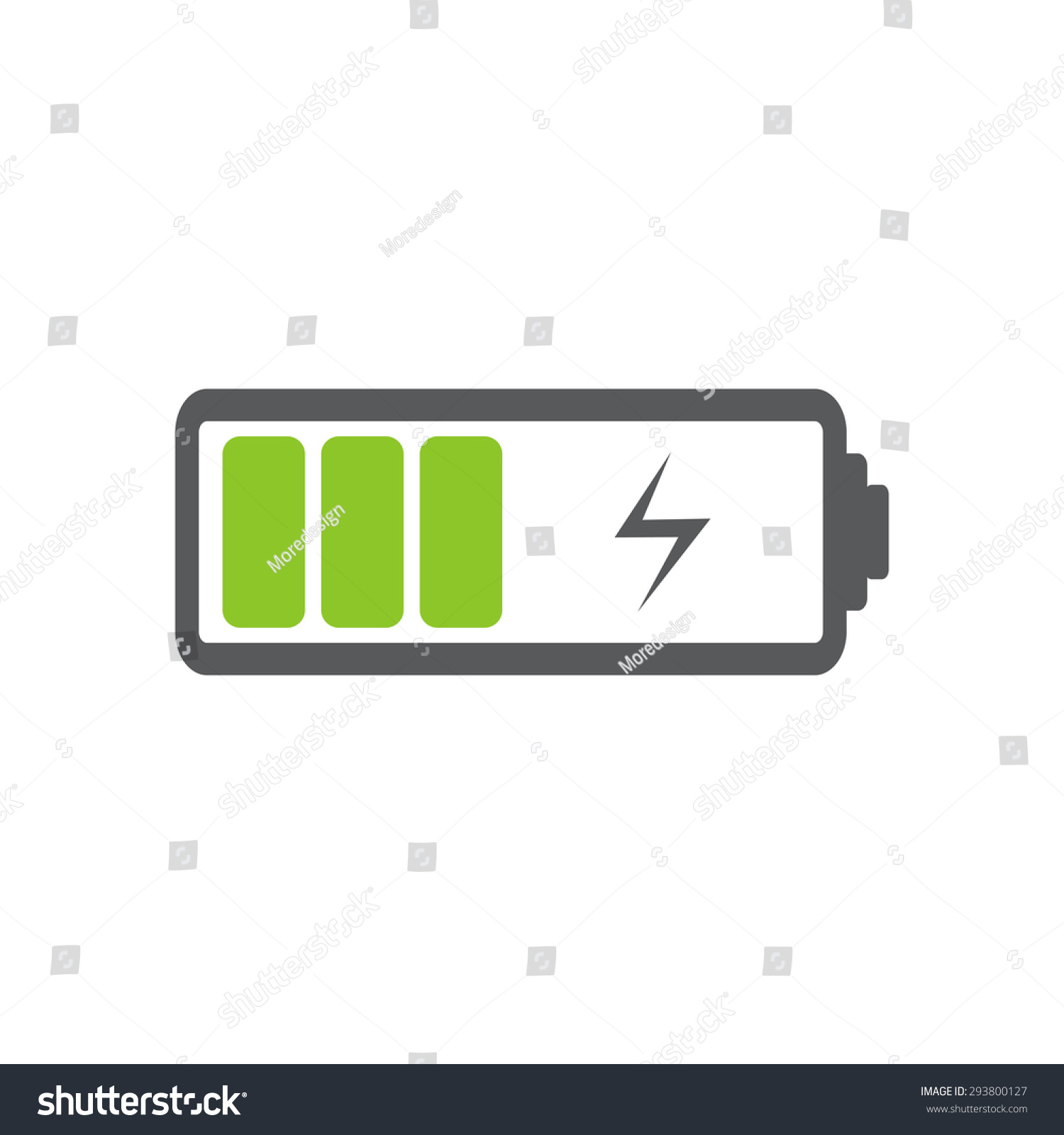 Battery Charging Icon Stock Vector Illustration 293800127 ...