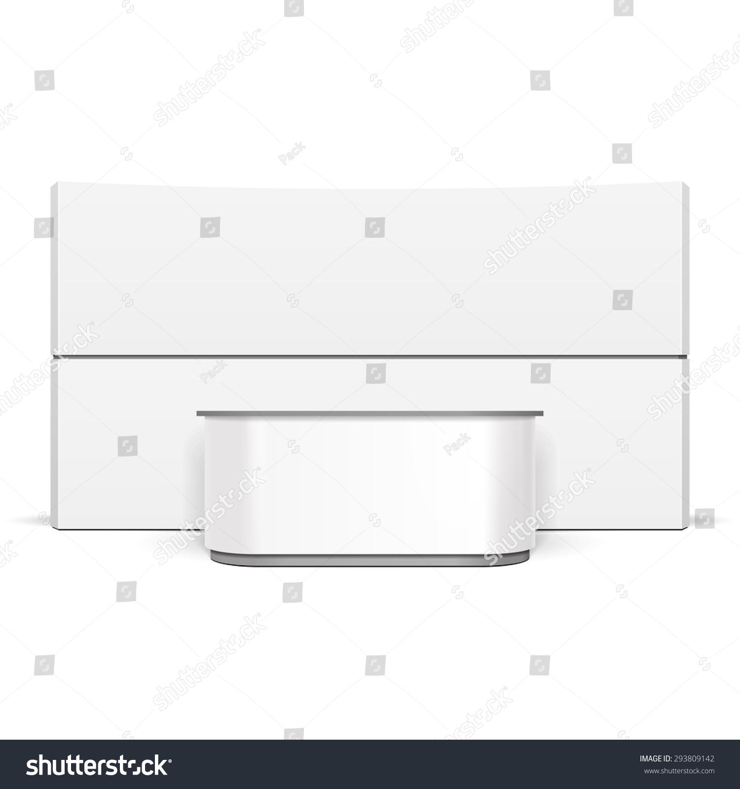 White Exhibition Stall : White exhibition stand pos poi blank empty retail