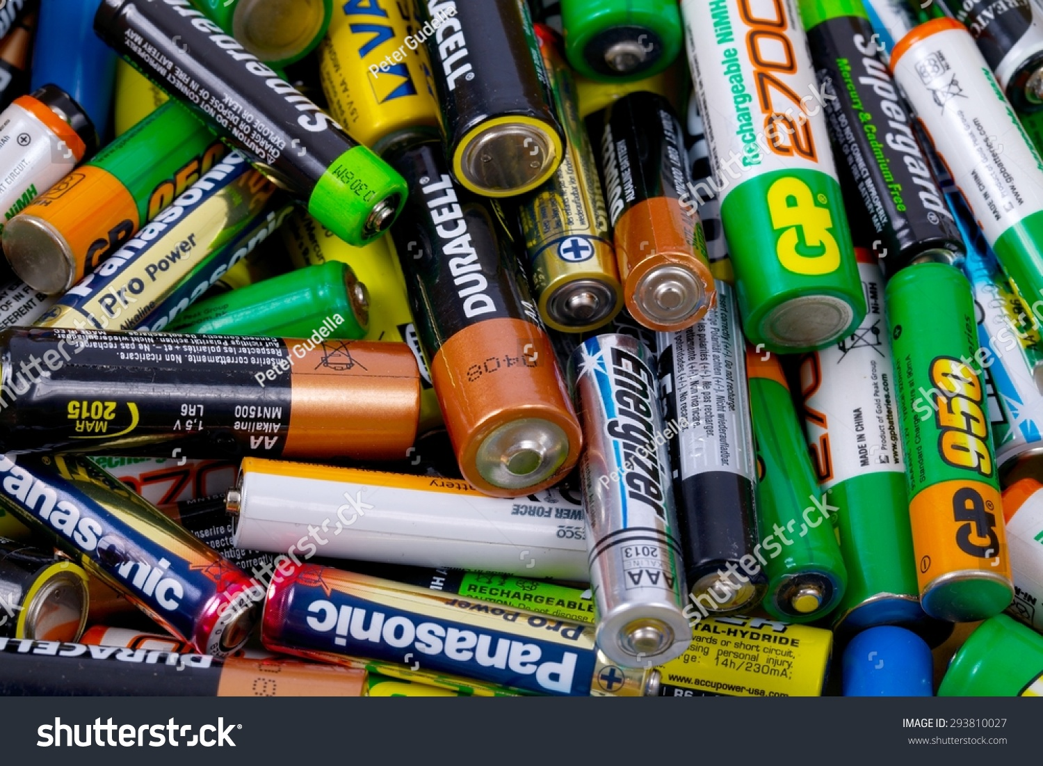 budapest hungary may 22 2015 many used aa and aaa sized batteries in a pile stock photo. Black Bedroom Furniture Sets. Home Design Ideas