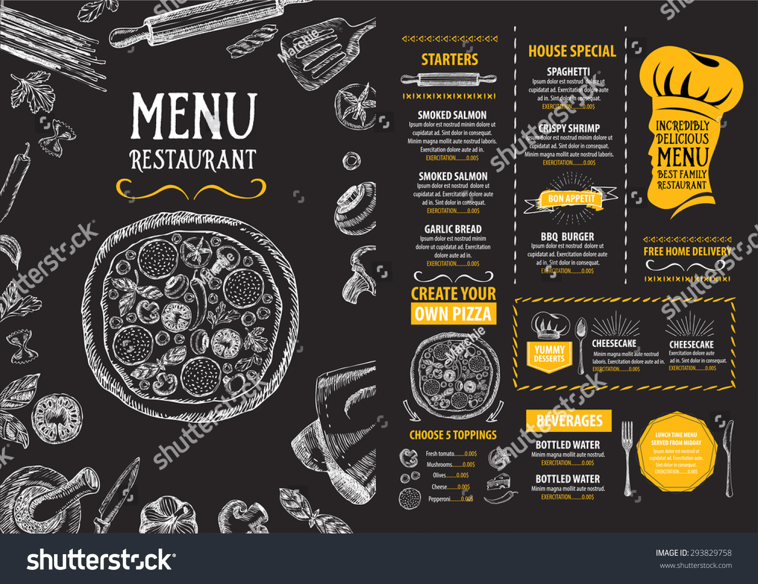 Current College Student Resume Examplesricerche correlate a – Lunch Menu Template