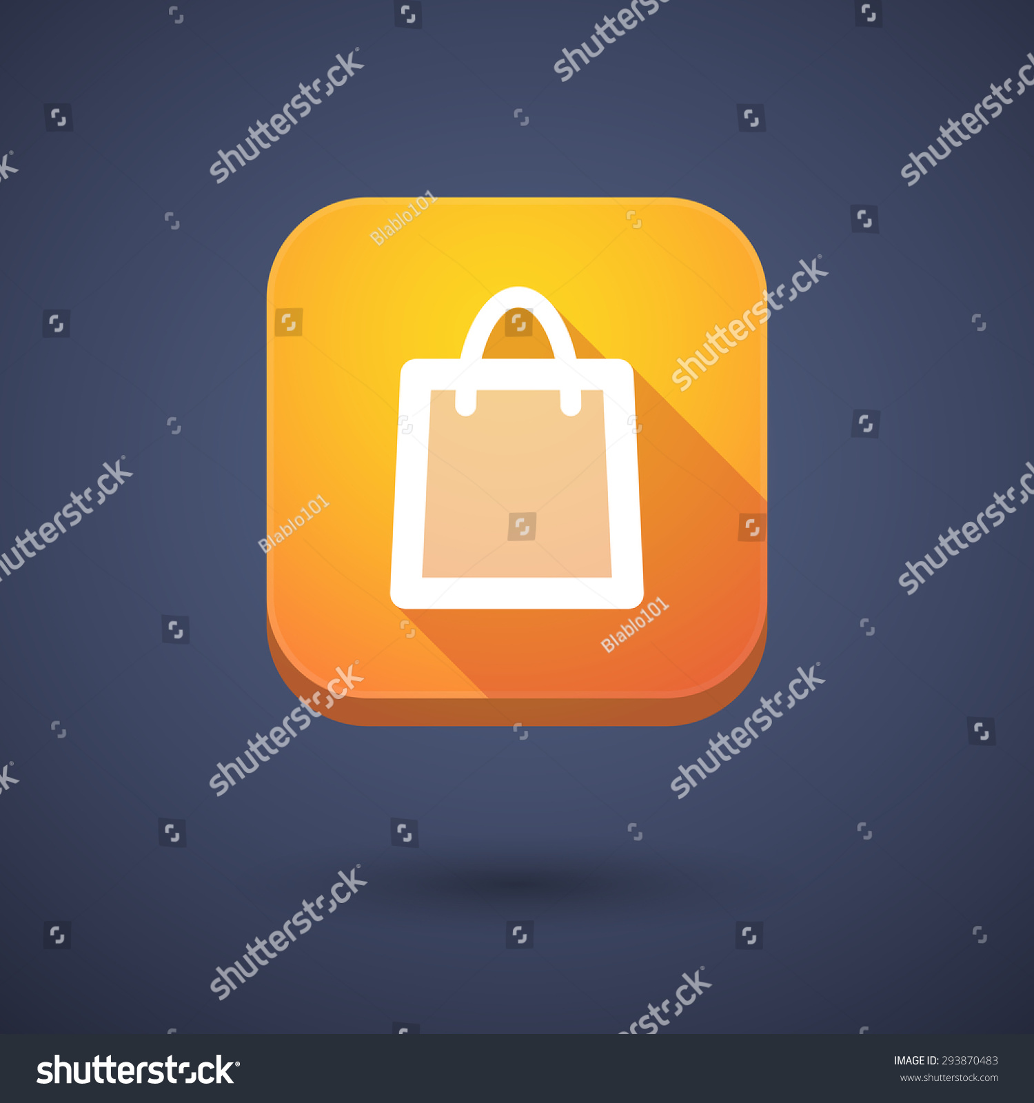 Illustration App Button Shopping Bag Stock Vector 293870483 ...