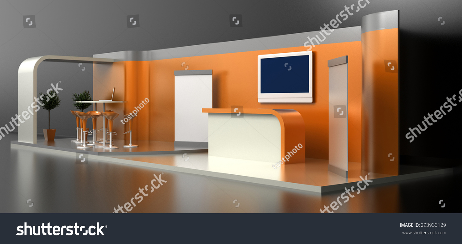 Exhibition Booth Blank : Empty blank exhibition booth original d stock