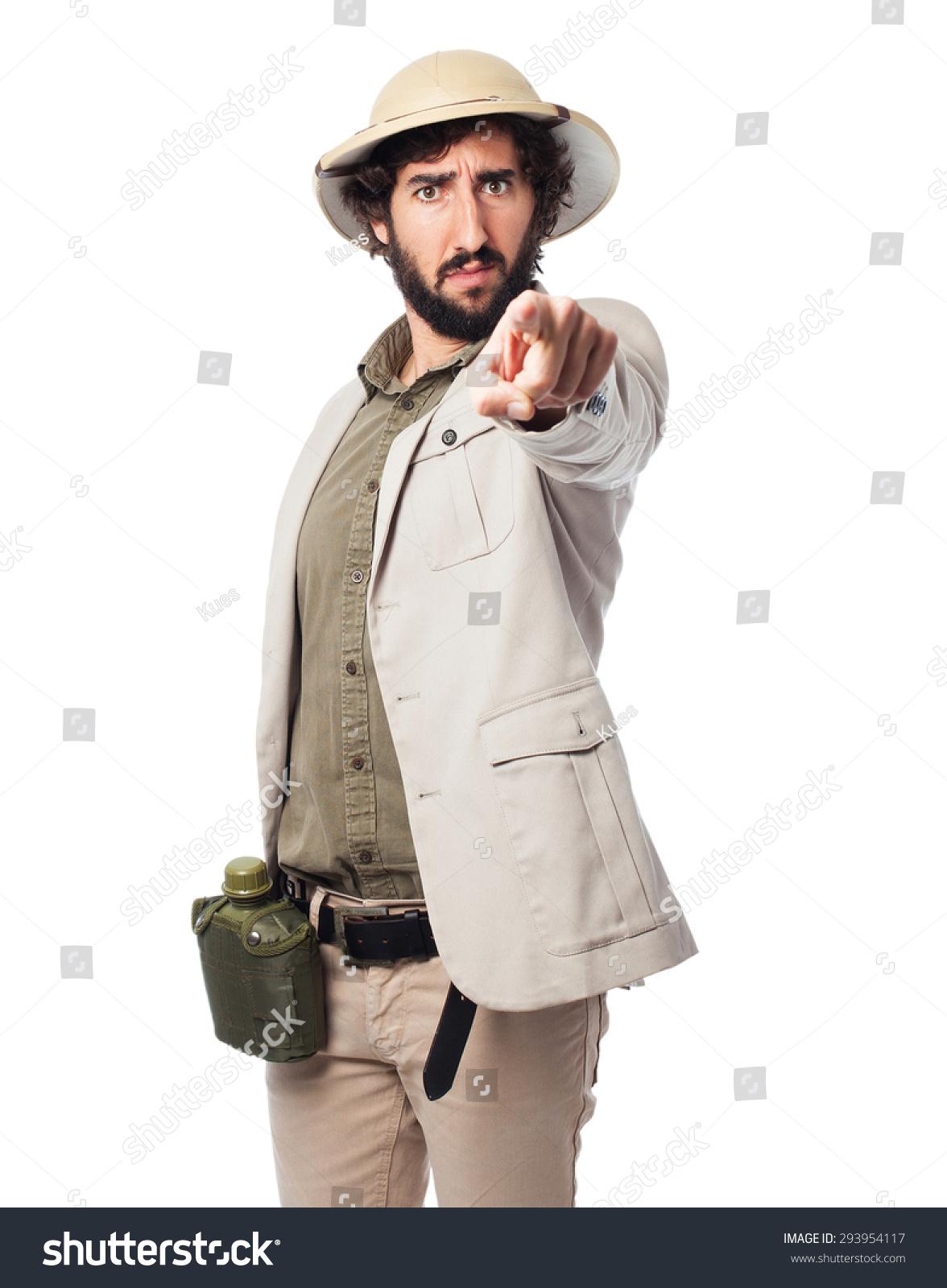 Crazy Explorer Man Rope Stock Photo 293957174 - Shutterstock