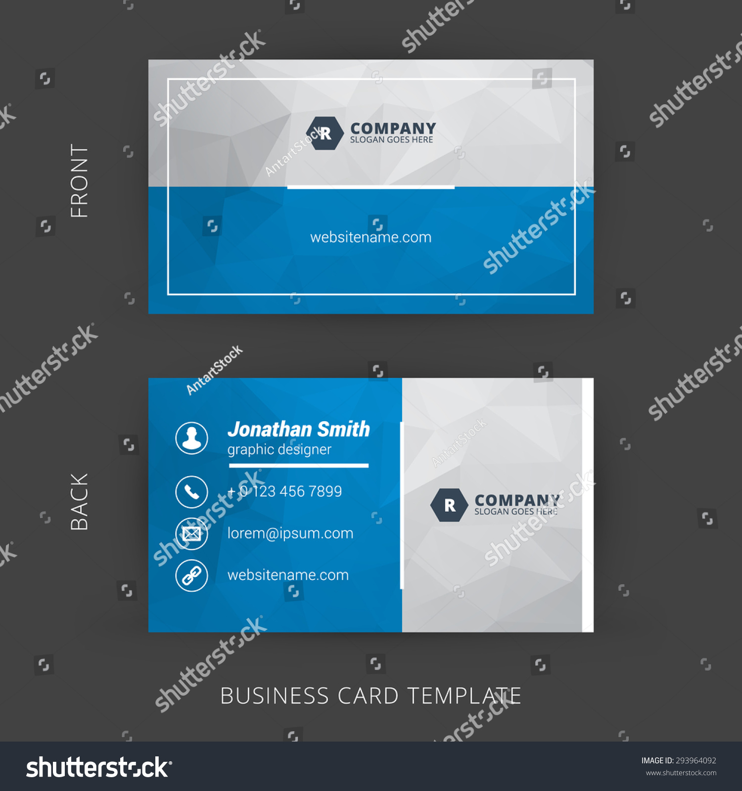 creative clean vector business card template stock vector