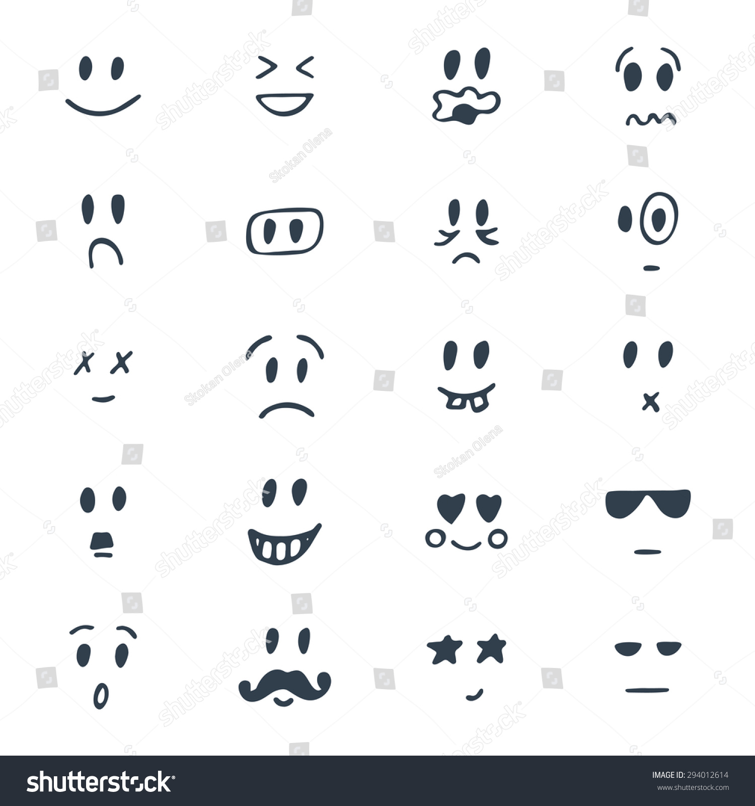 Line Drawing Of Happy Face : Related keywords suggestions for hand drawn faces