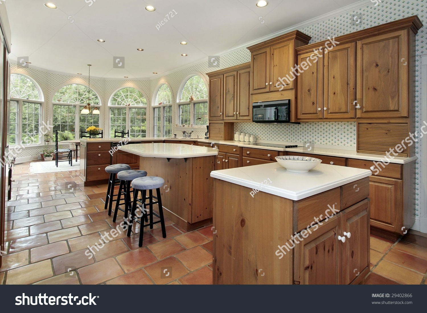 Large Kitchen Two Islands Stock Photo 29402866 Shutterstock