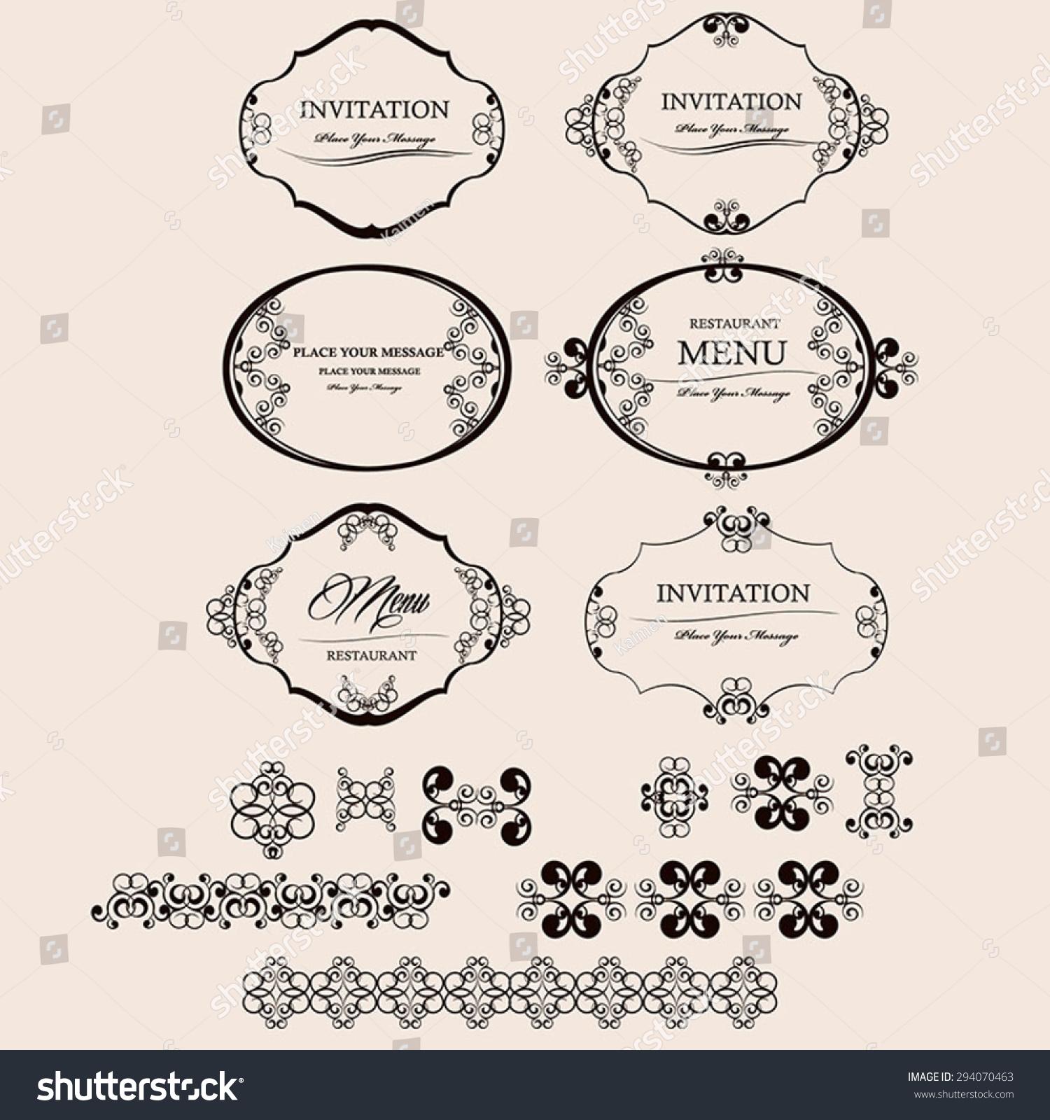 Vector Set Decorative Design Elements Page Stock Vector HD Royalty
