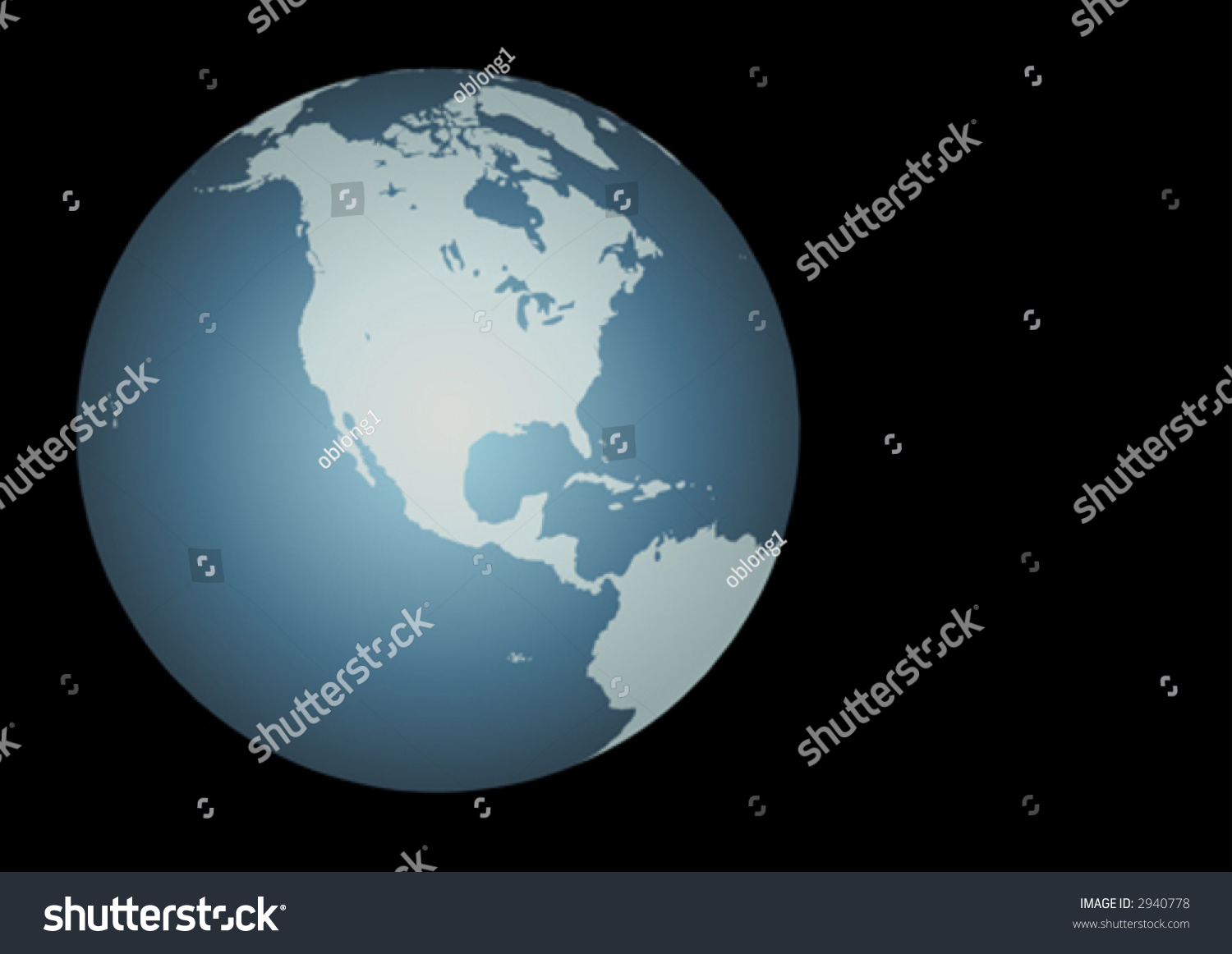 North America Vector Accurate Map North Stock Vector - Globe of usa
