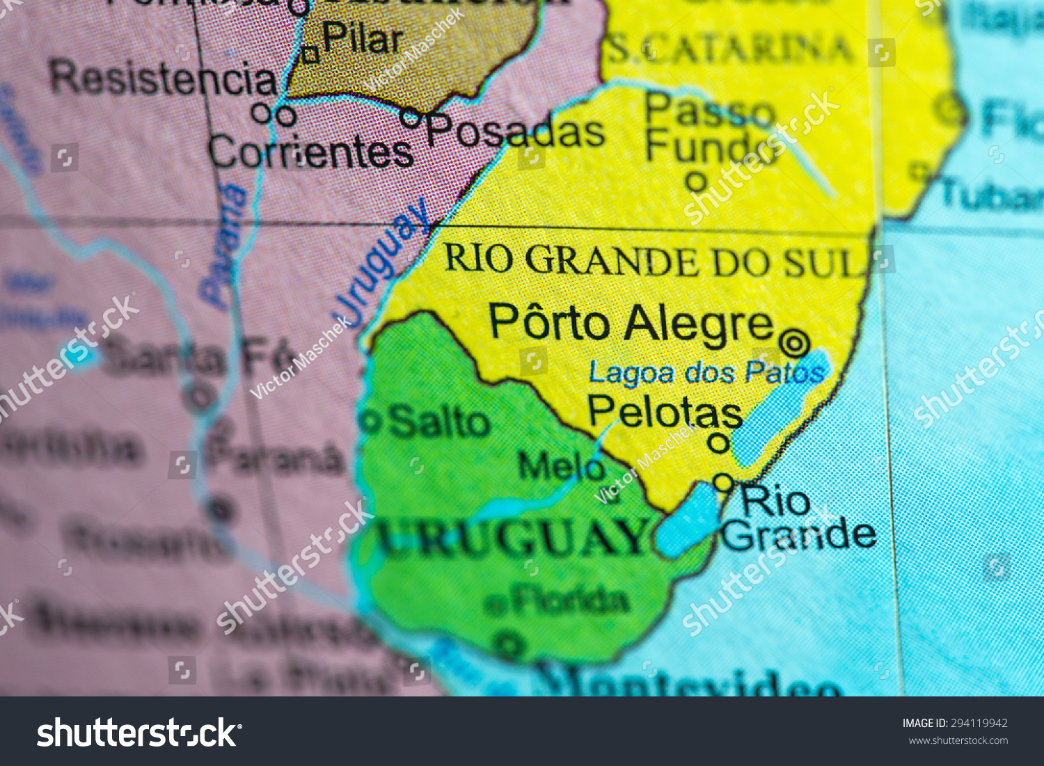 Map view brazil on geographical globe stock photo 294119942 map view of brazil on a geographical globe gumiabroncs Images