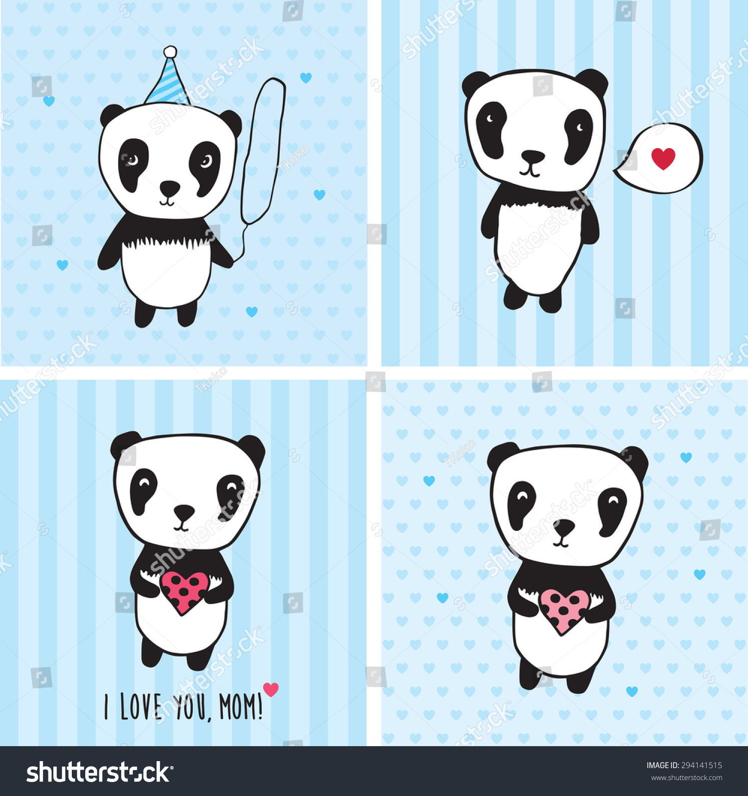 Love You Mom Greeting Cards Mothers Vector 294141515 – Valentines Cards for Mom