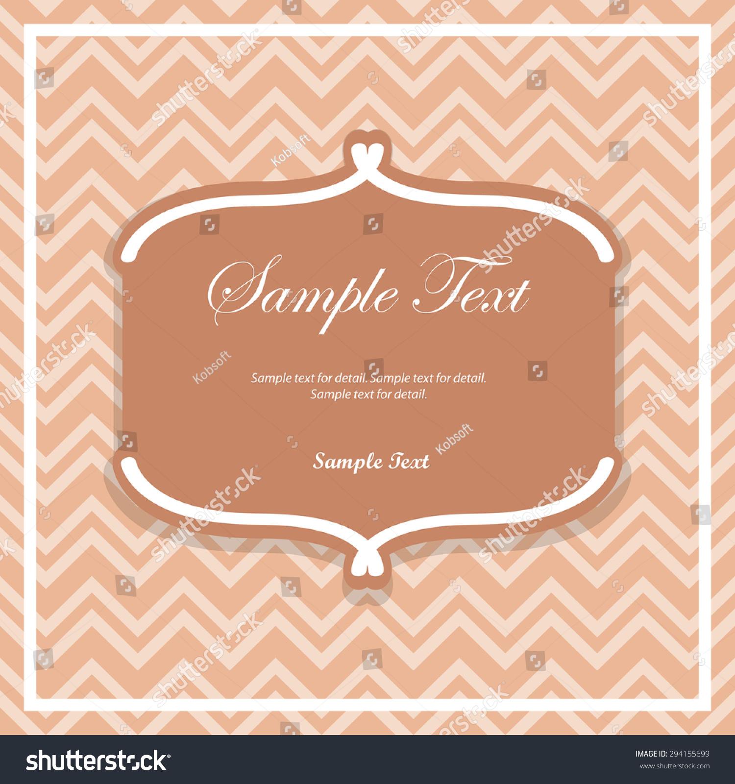 Classic Design Template Text Box Label Stock Vector 294155699 ...