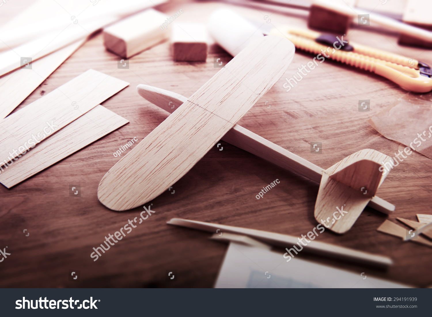 Making model airplane from wood wooden air plane