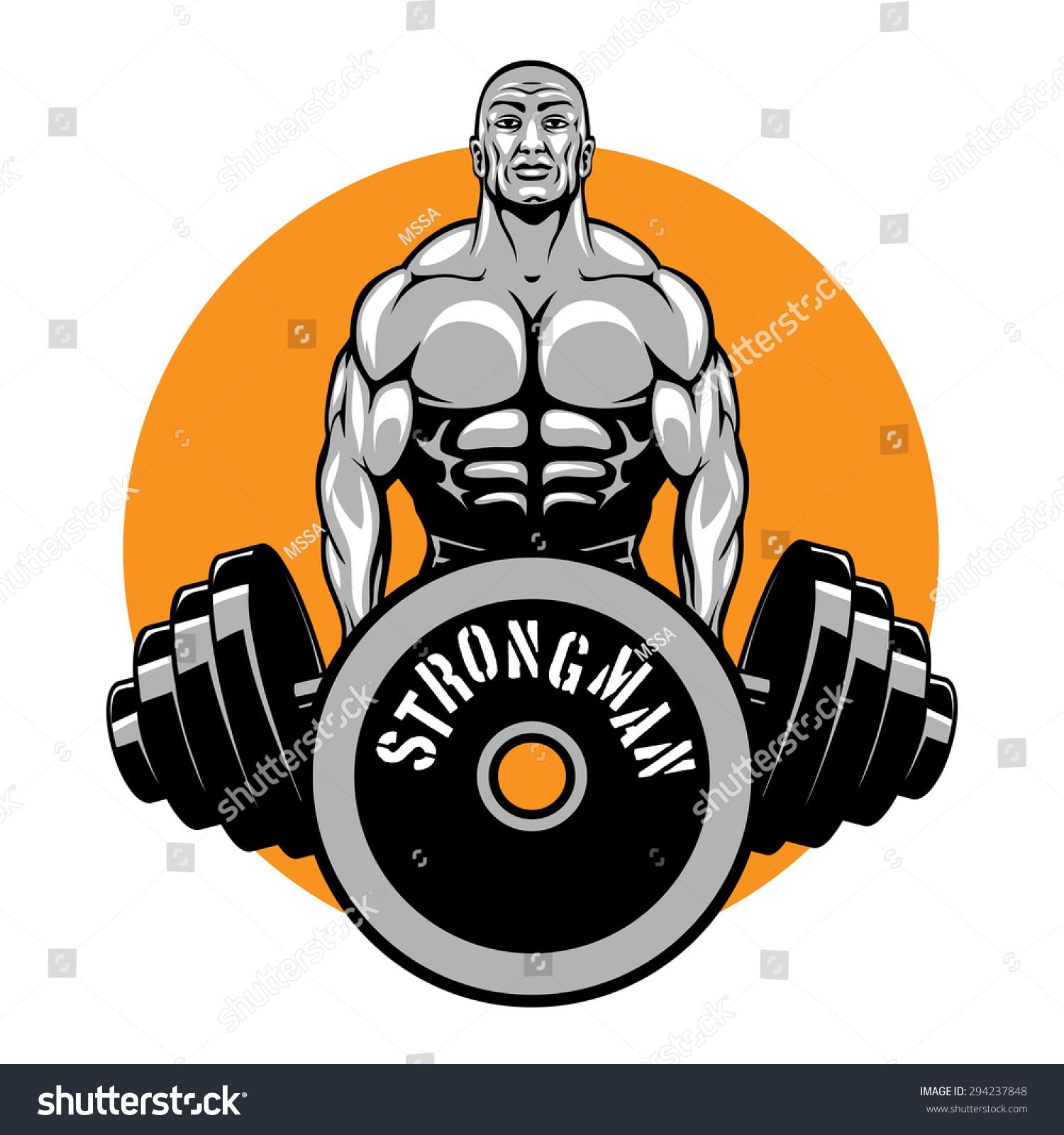 Shirt design equipment - T Shirt Design For Bodybuilders And Fitness Club Logo Or Emblem Sport Power