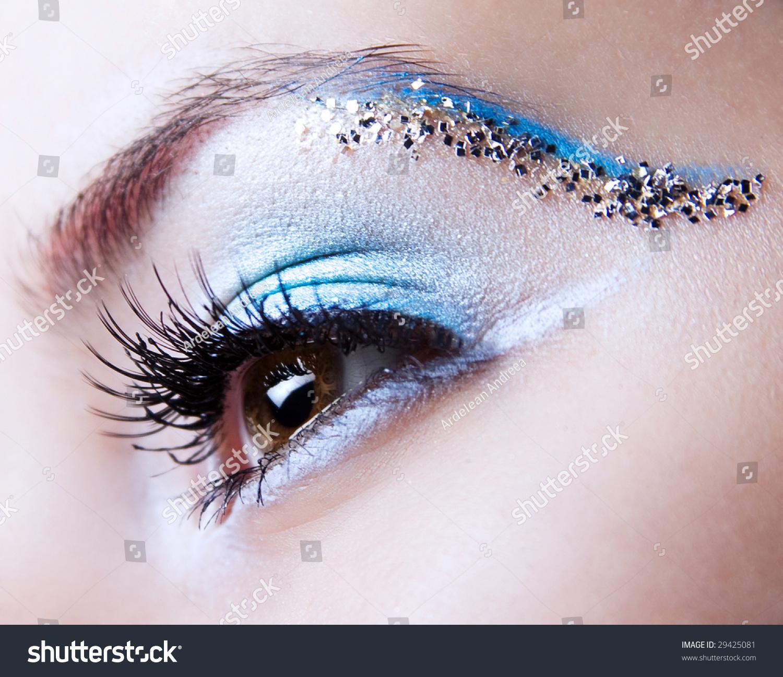 Blue Silver Eye Makeup Cat Eye Makeup