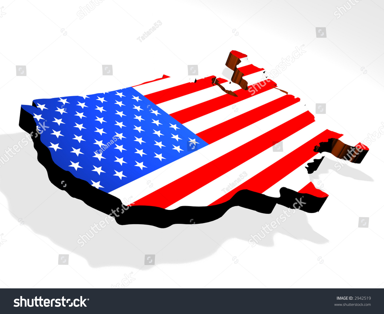 Map Usa D Stock Photo  Shutterstock - 3d map usa states