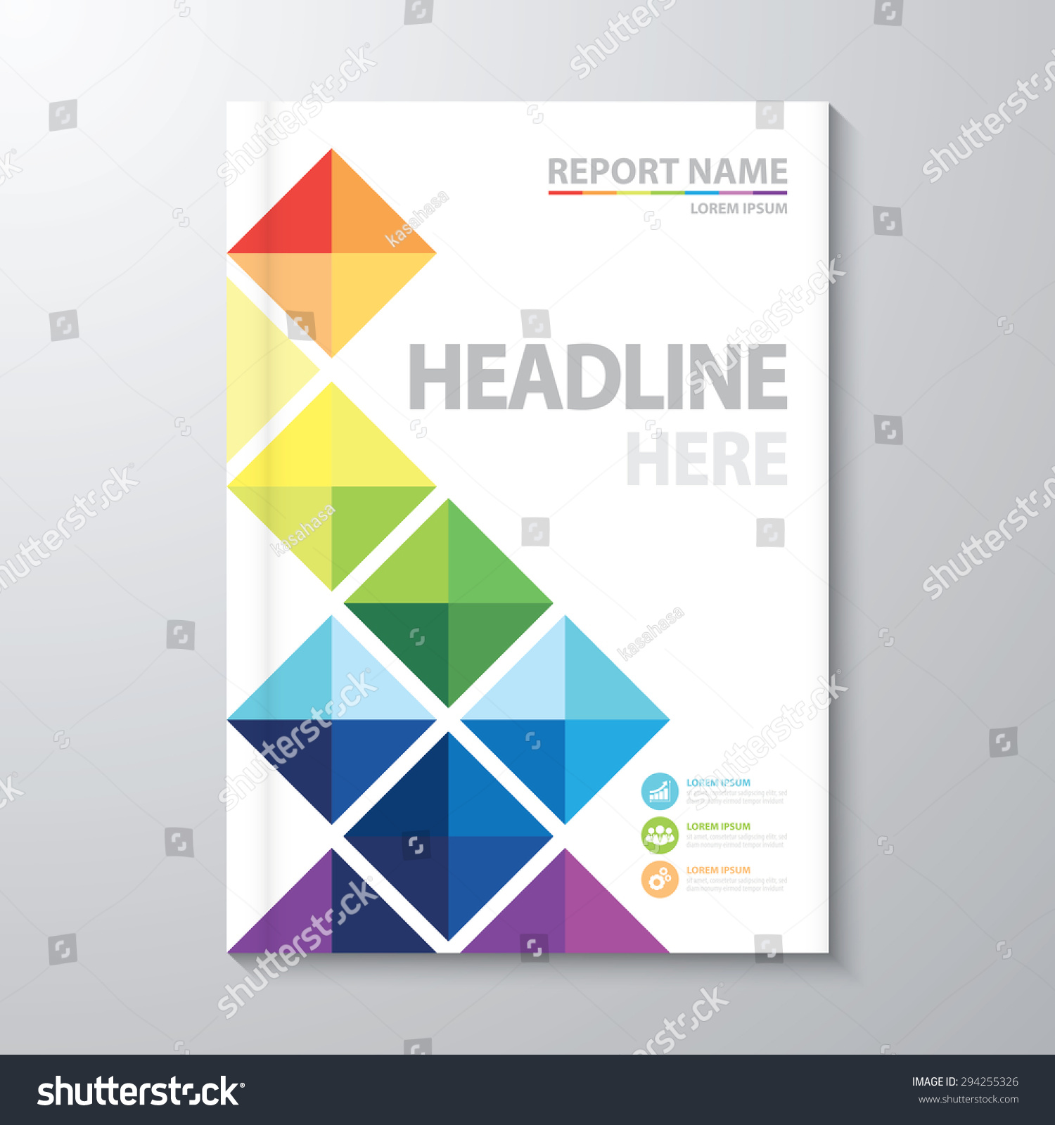 cover page template for report business cover page vector template