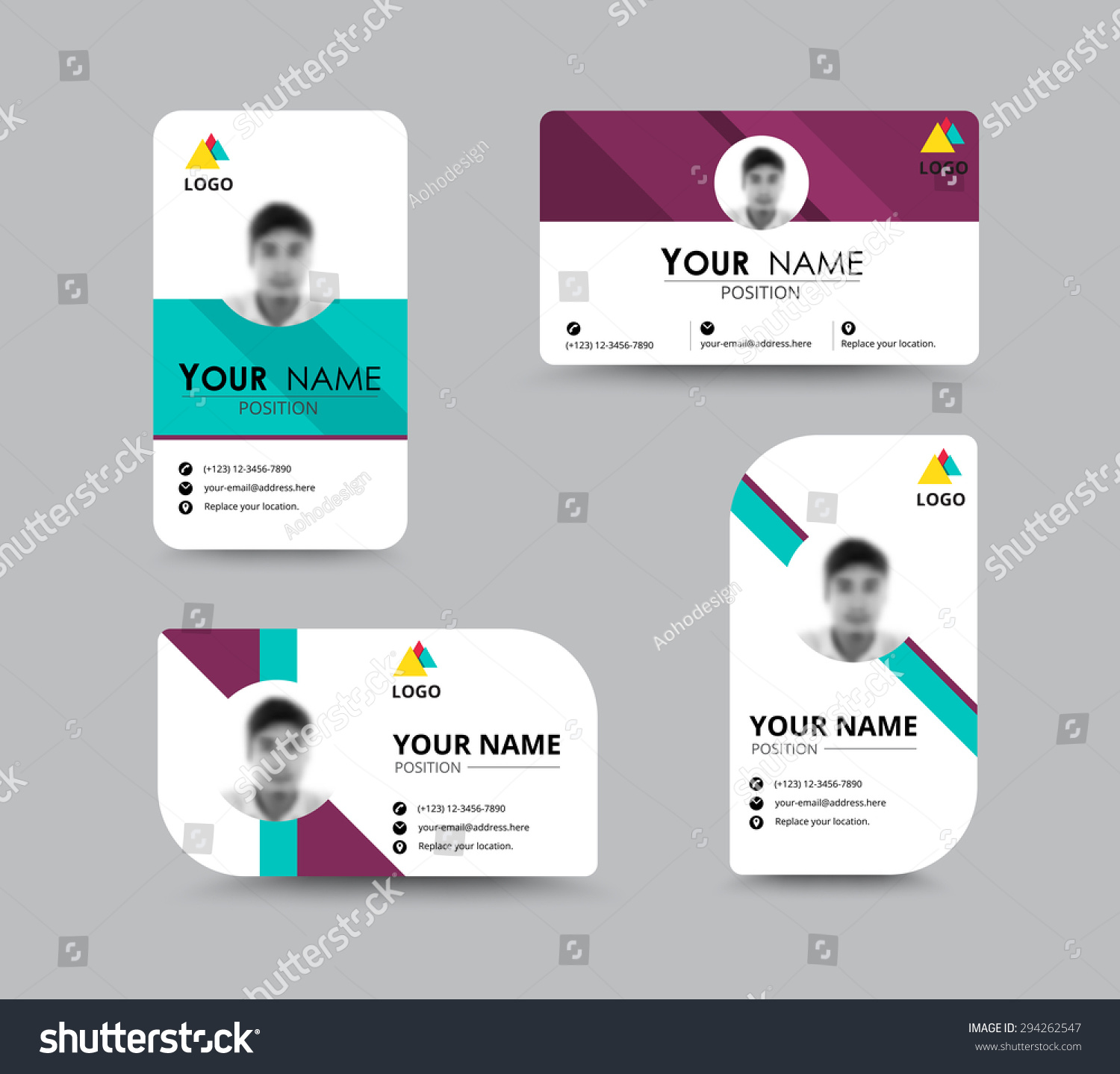 Business Greeting Card Template Design Introduce Stock Vector ...