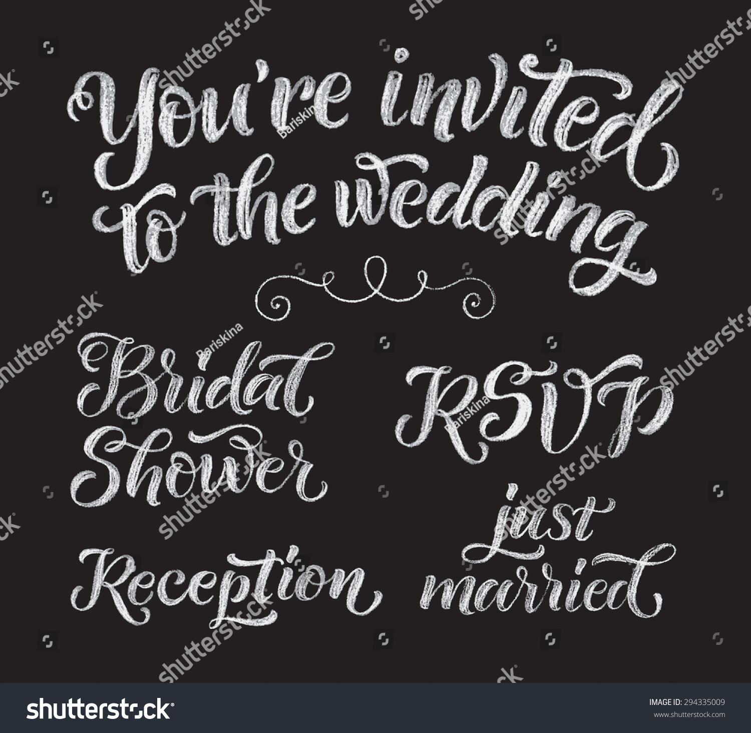 Vector Wedding Design Template Ornate Elements Stock Vector 294335009 - Shutterstock