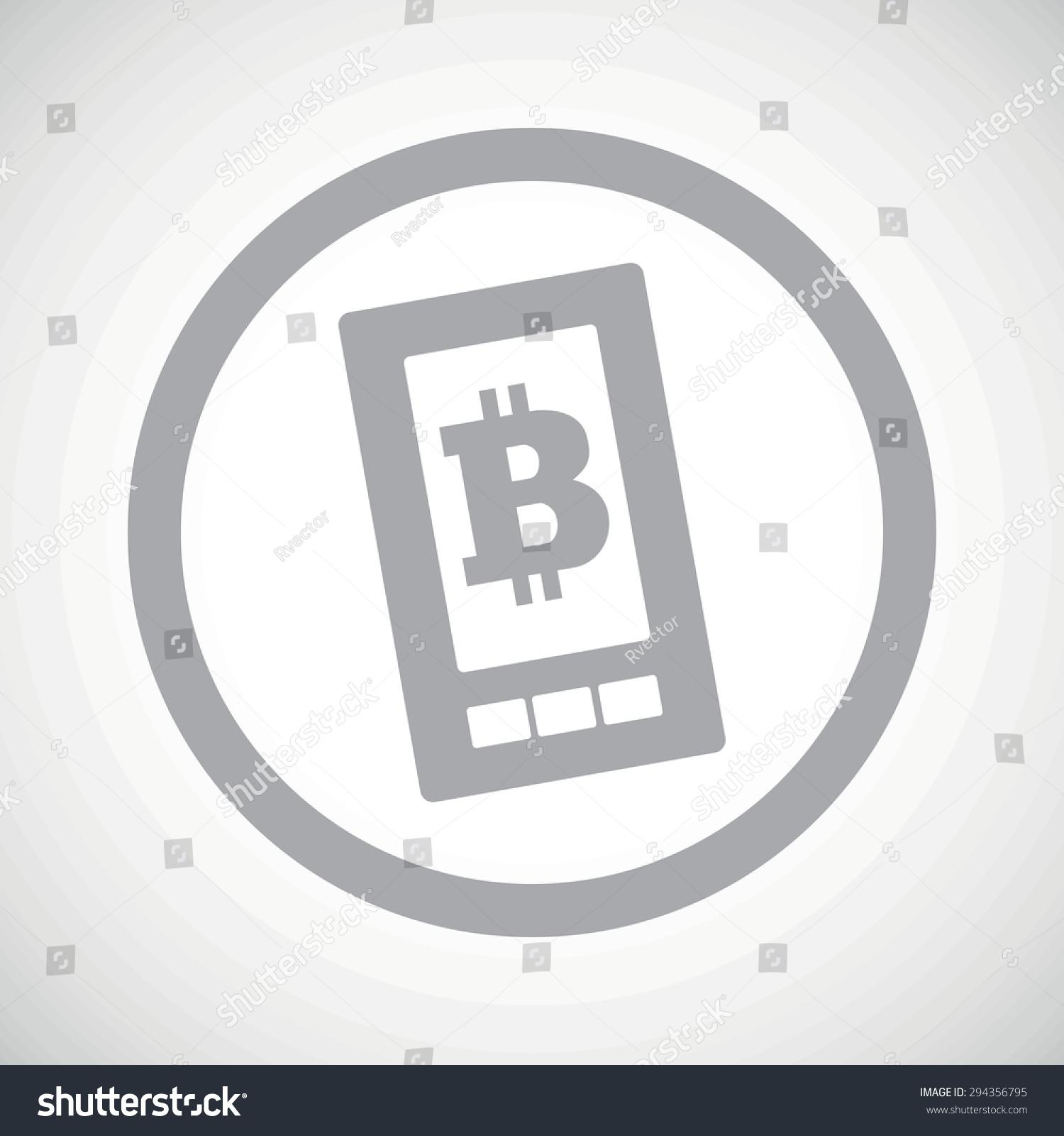 Grey Image Bitcoin Symbol On Phone Stock Illustration Royalty Free