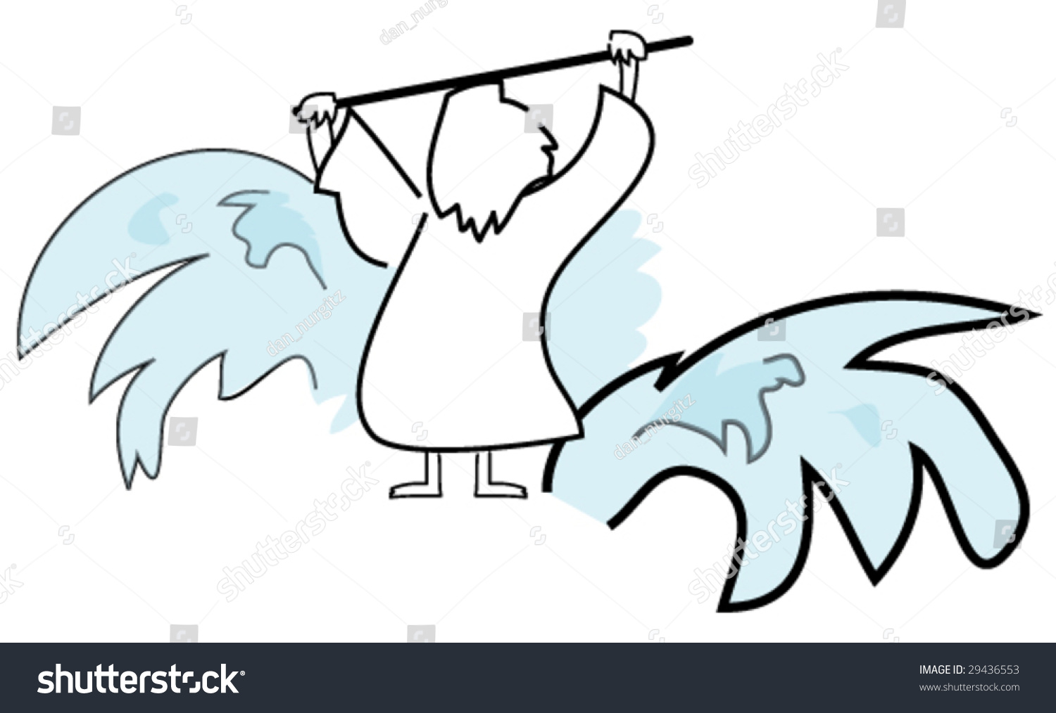 moses parting red sea stock vector 29436553 shutterstock