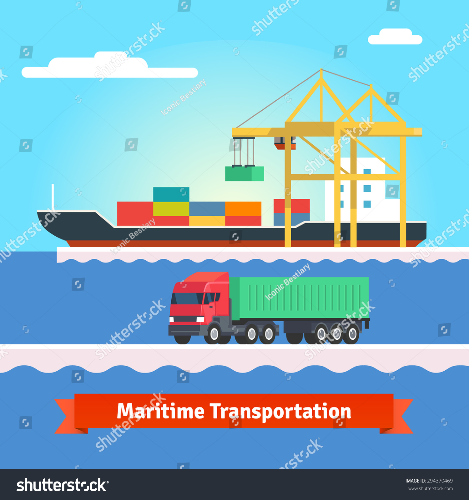 clipart container ship - photo #47
