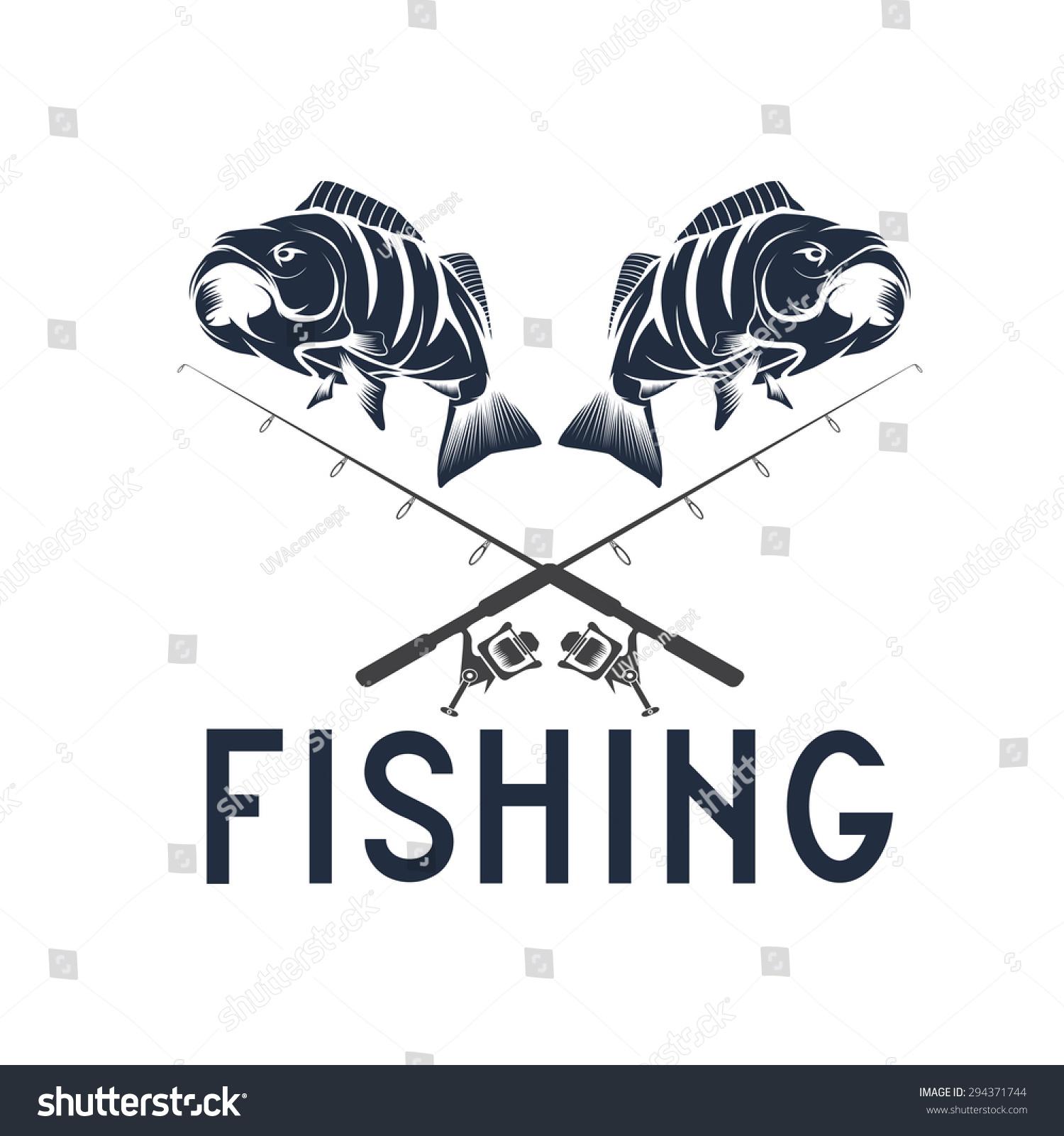 Vintage Fishing Vector Design Template Stock Vector 294371744 ...
