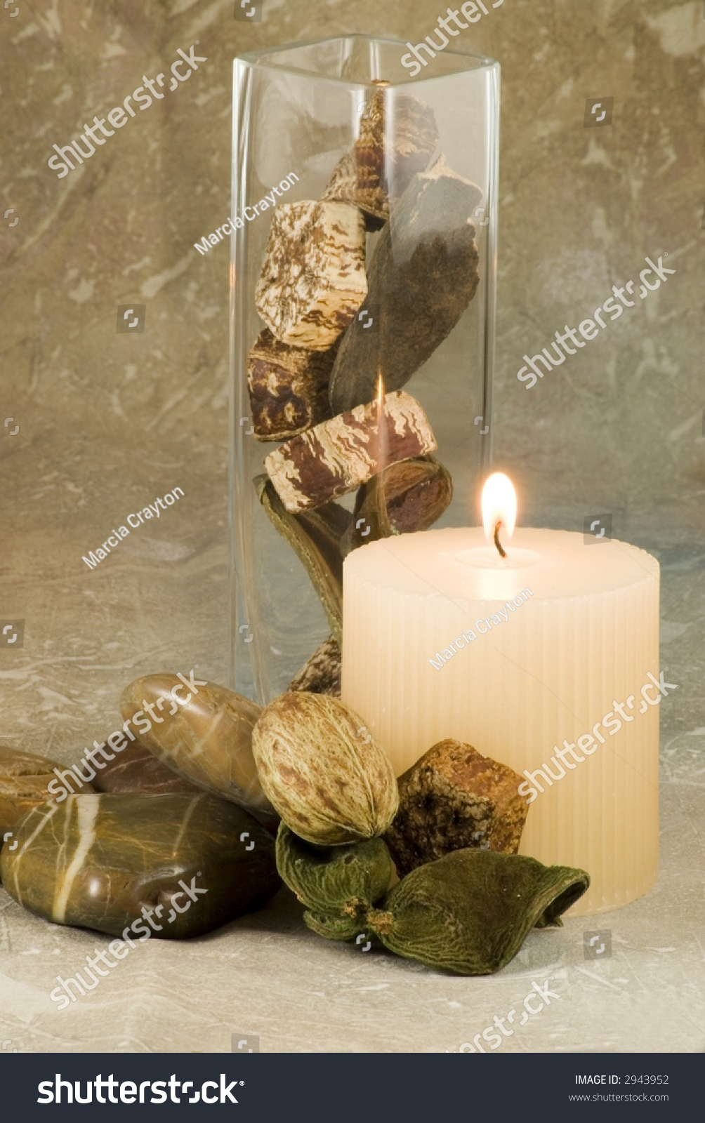 Home decor collection candle vase stones stock photo 2943952 shutterstock - Home decor home business collection ...