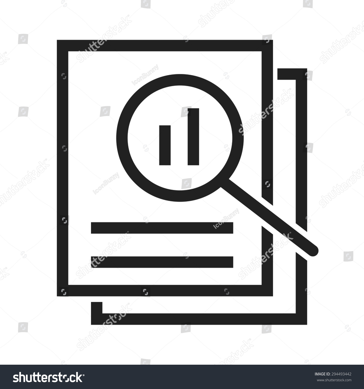 Overview Analysisreview Icon Vector Image Be Stock Vector ...