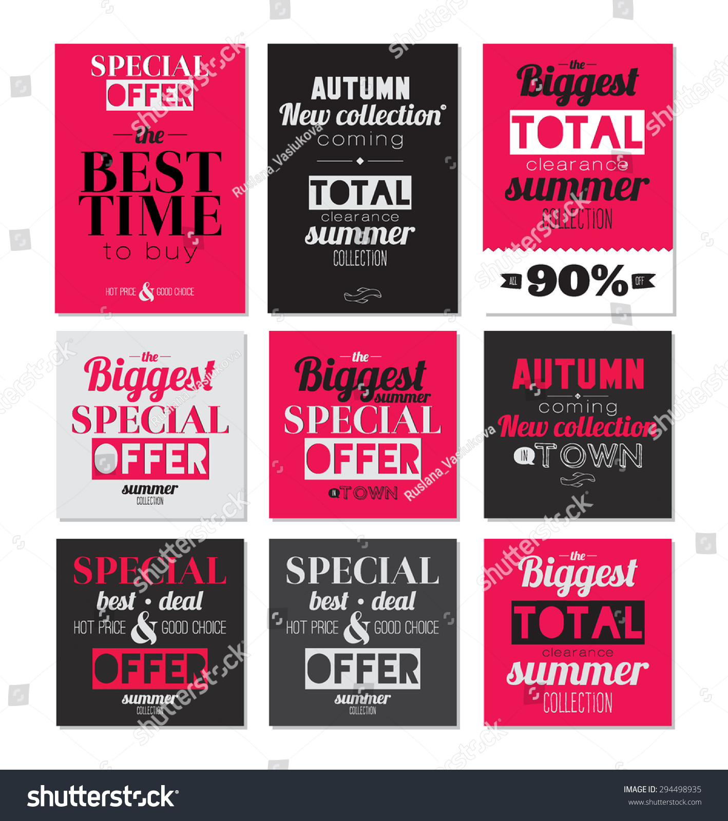 set mega flyer poster banner stock vector  set of mega flyer poster or banner design best discount offers stylish
