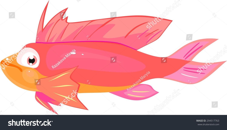 Pink Sea Fish Stock Illustration 294517763 - Shutterstock