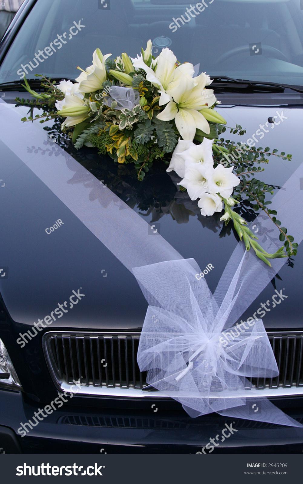 This Wedding Car Decoration Flower Bouquet Stock Photo Edit